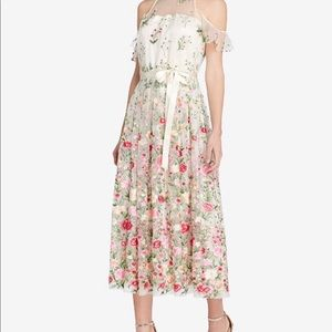 Tahari  embroidery dress